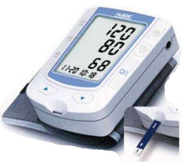 blood pressure & glucose monitor 血压及血糖计仪器